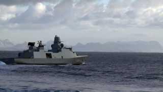 Navigationsøvelse på fregatten Niels Juel