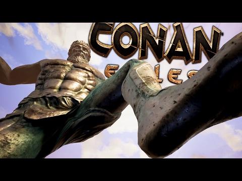 Conan Exiles - SUMMONING YOG TENTACLE GOD & MITRA GOD TITAN - (Conan Exiles Free Play Gameplay)