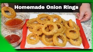 Beer Batter Onion Rings!  (Watch out for Sheila)