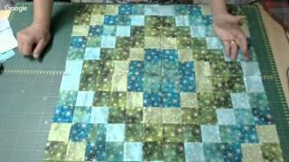 Patchwork Ao Vivo: toalha natalina com técnica Volta ao Mundo