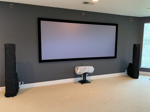 """MUST SEE! Screen Innovations 133"""" 2.35 Cinescope Black Diamond -Unboxing, Assembly, and Installation"""