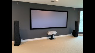 "MUST SEE! Screen Innovations 133"" 2.35 Cinescope Black Diamond -Unboxing, Assembly, and Installation"