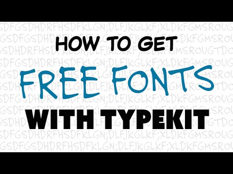How To Get Free Fonts with Typekit (Photoshop Tutorial)