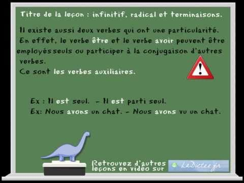 L Infinitif Le Radical Et Les Terminaisons En Francais Cp Ce1 Ce2 Www Ladictee Fr Youtube