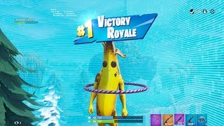 "FORTNITE First Win with ""PEELY"" BANANA SKIN (""BANANA"" OUTFIT Showcase) 