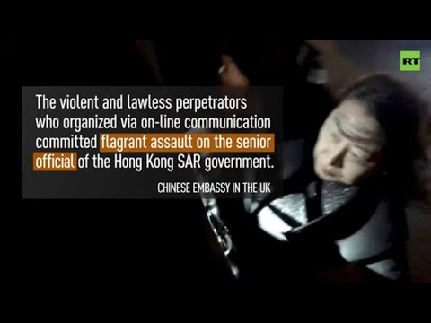HK official attacked by 'pro-democracy' mob in London