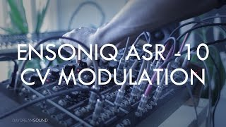 using cv control voltage with ensoniq asr 10 sampler via modular synthesizer