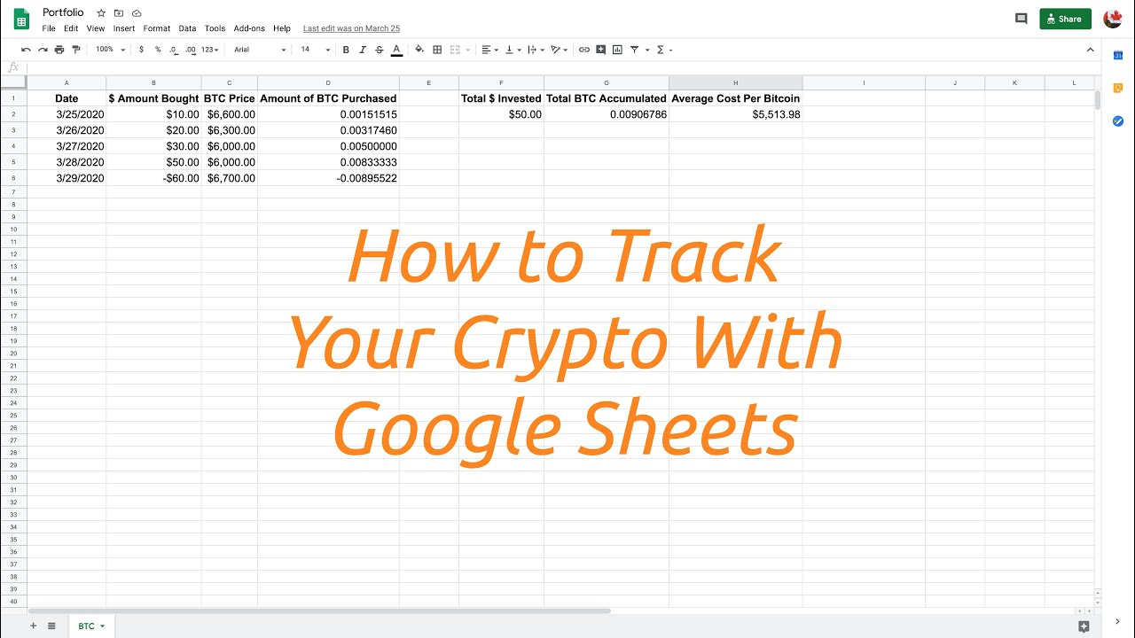 How to Track Your Crypto Trades with Google Sheets