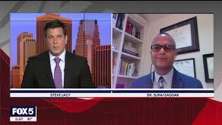 Dr. Suraj Saggar delivers COVID-19 updates on FOX 5 NY