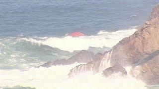 Portekiz balıkçı teknesi alabora oldu