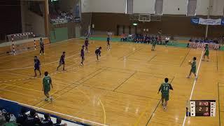 6日 ハンドボール男子 福島市西部体育館Eコート 函館大学付属有斗×岩国工業 2回戦 前半