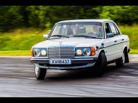 Mercedes benz w123 250 gopro drifting youtube for Mercedes benz w123