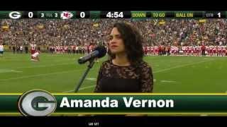 Amanda Vernon - National Anthem: Packers