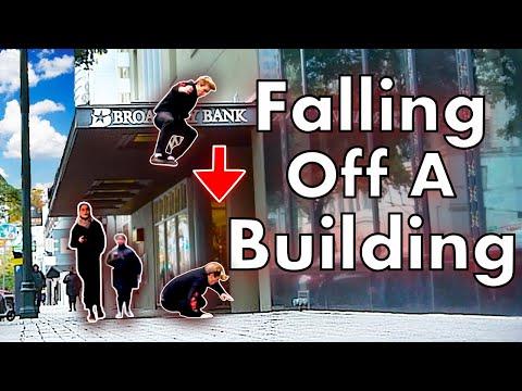 Falling off Building Prank! Pt.2