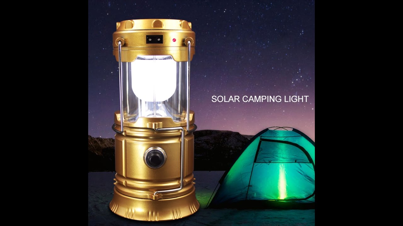 Solar Rechargeable Camping Lantern Portable Led Camp Light Flashlight Lamp Product Review