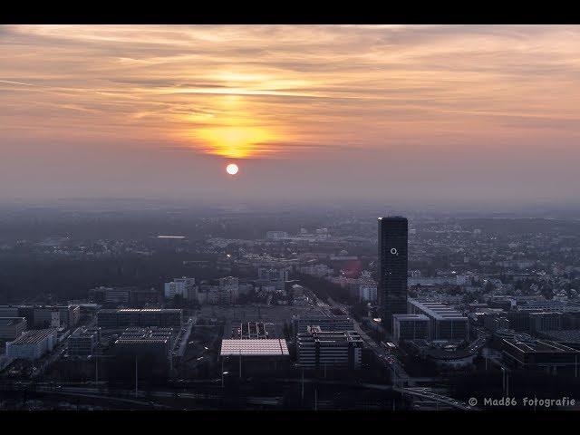 Sonnenuntergang am Olympiaturm München