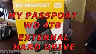 My Passport WD 4TB External Portable Hard Drive Unboxing,Review AND Western Digital Software Install