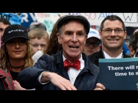 Thumbnail: Bill Nye among demonstrators at 'March for Science' in DC