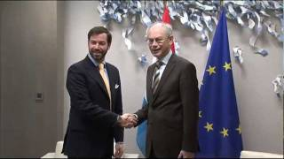 Meeting with the Hereditary Grand Duke of Luxembourg