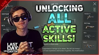 🔴 1.11.4 UPDATE! UNLOCKING ALL ACTIVE SKILLS IN THE GAME! - Last Day on Earth: Survival LIVESTREAM!