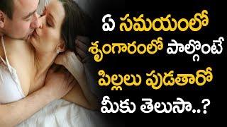 ఏ సమయంలో శృంగారంలో పాల్గొంటే పిల్లలు పుడతారో తెలుసా | Health Tips in Telugu
