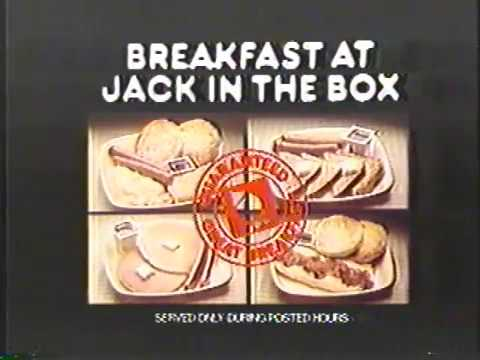 Jack In The Box 1979 Scrambled Eggs Breakfast Commercial
