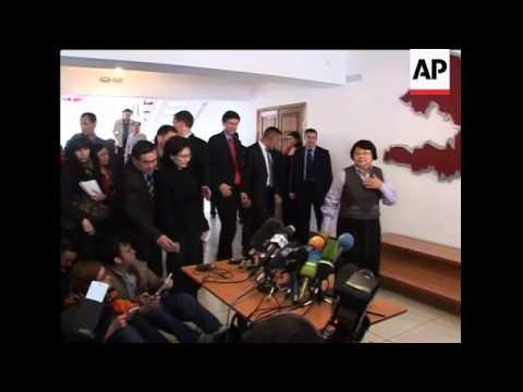Pro and anti-Bakiyev rallies; US Asst Sec with Otunbayeva; Medvedev