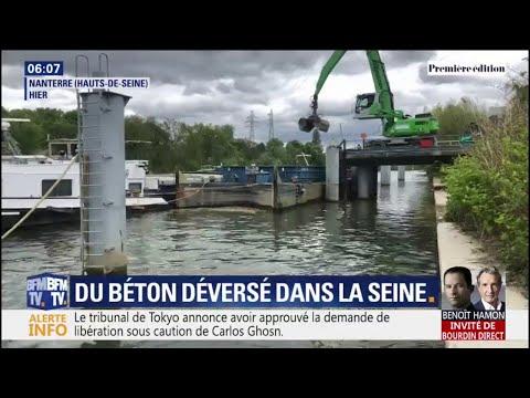 Vinci a déversé des résidus de béton dans la Seine, sur un chantier du RER E à Nanterre