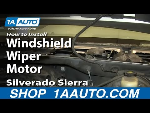 How To Install Replace Windshield Wiper Motor