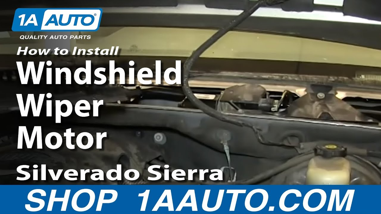 small resolution of how to install replace windshield wiper motor 2000 06 silverado sierra suburban tahoe yukon youtube