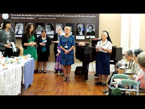 Marianne Cope Day tea with Sisters of St. Francis and award presentation 8/9/2017