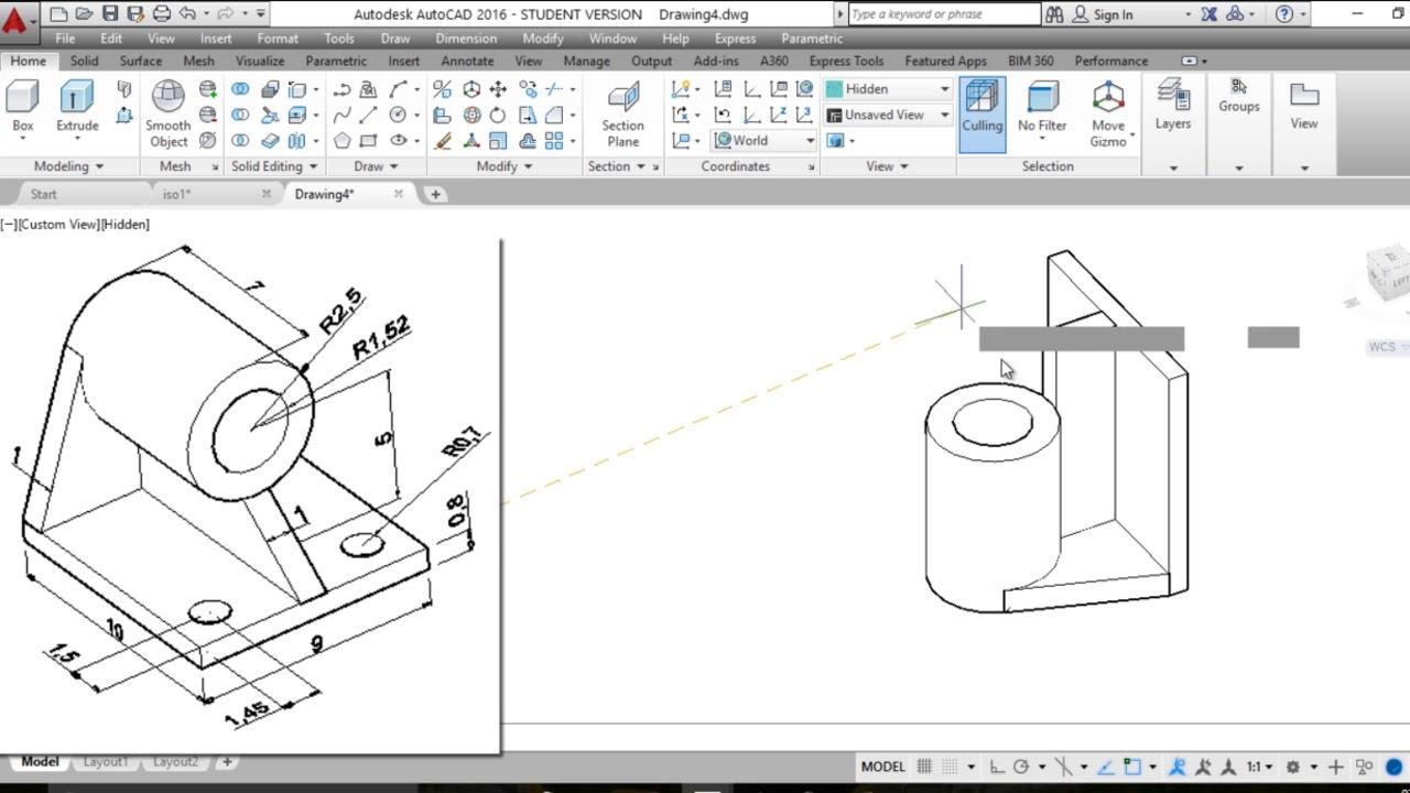 تمرين 1 رسم شكل هندسي ثلاثي الابعاد Tutorial 1 Of 3d Engineering