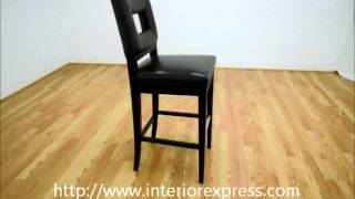 InteriorExpress Faustino Brown Leather Bar Height Bar Stool