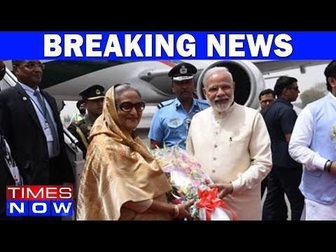 Narendra Modi Welcomes Bangladesh PM Sheikh Hasina At New Delhi Airport