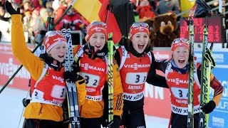 Wind Staffel Frauen Antholz / 25. Januar 2015