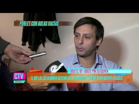 CTV Noticias - Aulas vacías en Poblet; La Plata: faltan transportes, les deben 10 meses - PARTE 2