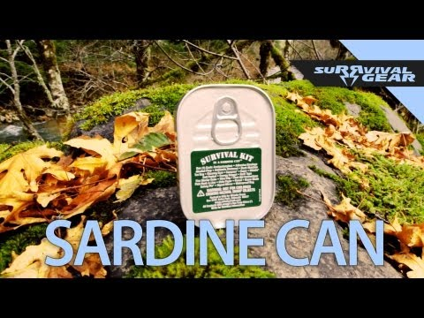 The Whistle Creek Survival Kit Sardine Can - SuRRvival Gear