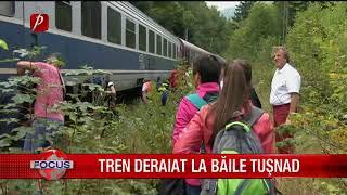 Tren deraiat la Băile Tușnad