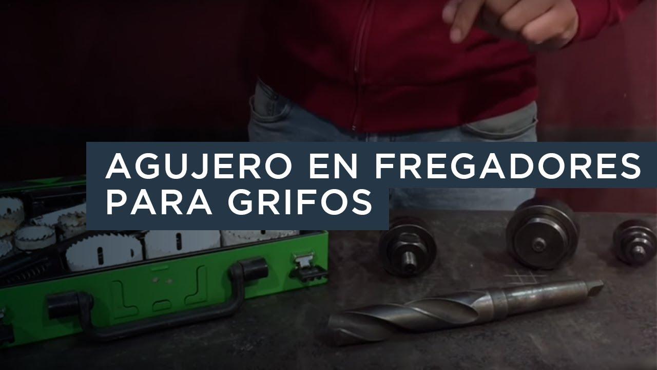 Hacer agujero en fregadero para colocar un grifo youtube for Grifos antiguos de pared