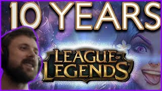 Forsen Reacts To League of Legends - 10-Year Anniversary Celebration