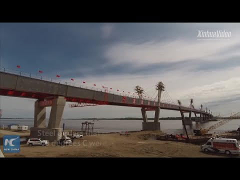 Main Sections Of First China-Russia Highway Bridge Connected