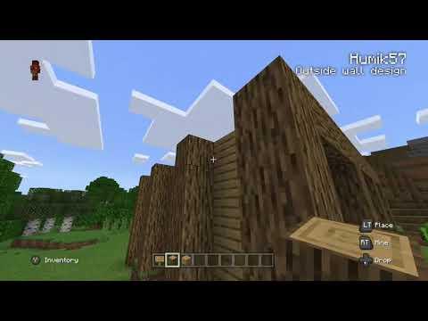 Minecraft outside walls design tutorial thumbnail