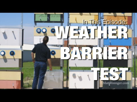 Fluid Applied Weather Barrier Testing