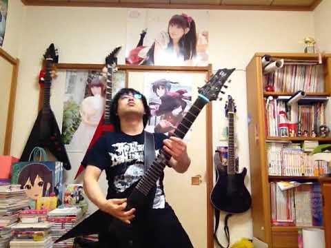 田村ゆかり「秘密の扉から会いにきて」を7弦ドロップAで弾きました。