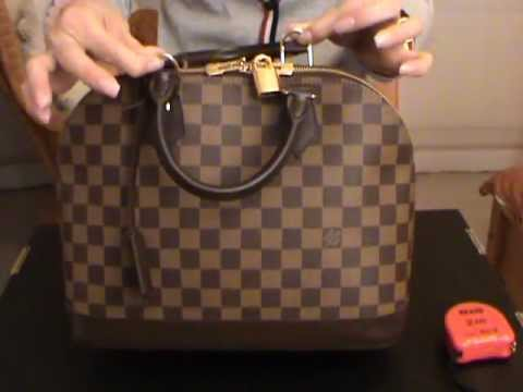 0438e56de758 Louis Vuitton Alma PM in Damier Ebene - YouTube