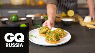 как приготовить тост с лососем и авокадо