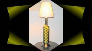 Making A Table Lamp - Recycled Glass Bottle Cutting Art