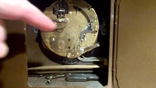 Fhs Franz Hermle 'floating' Movement Chiming 1950's Mantel Clock