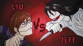 JEFF THE KILLER VS HOMICIDAL LIU | Draw My Life