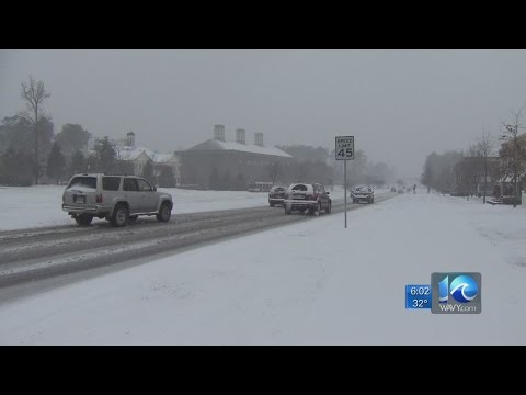 Drivers deal with snowy conditions in James City County
